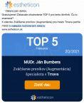 MUDr. Ján Bumbera - Vážený pán doktor, Gratulujeme! Získavate ohodnotenie TOP 5 pre tento štvrťrok. Čo to znamená?
